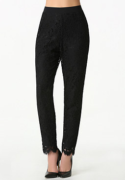 bebe Lace High Waist Pants