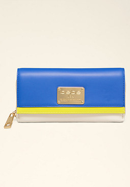 bebe Janessa Colorblock Wallet