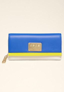 bebe Janessa Colorblock Wallet