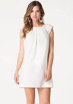 bebe Moss Crepe Shift Dress