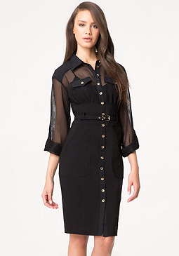bebe Petite Juliette Shirtdress