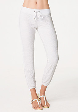 bebe Lace Overlay Malibu Pants