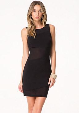 bebe Mesh Inset Dress