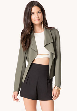 bebe Shirred Detail Jacket