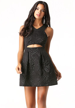 bebe Embossed Knit Dress
