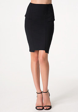 bebe Peplum Panel Skirt