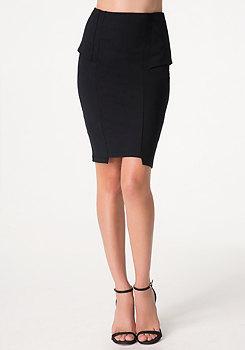 bebe Peplum Panel Skirt