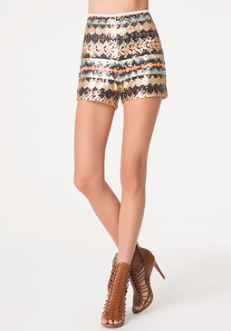 bebe Sequin Shorts