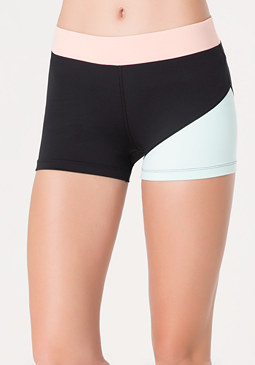 bebe Angled Colorblock Boyshorts