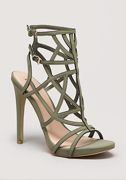 Gabriela Caged Sandals at bebe