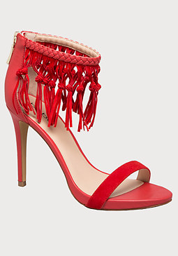 bebe Charismaa Fringed Sandals
