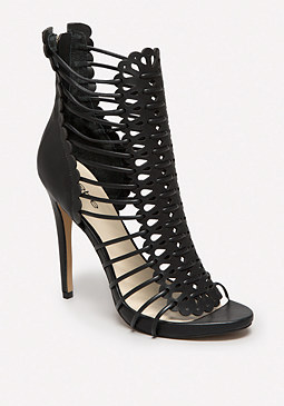 bebe Flavia Laser Cut Booties