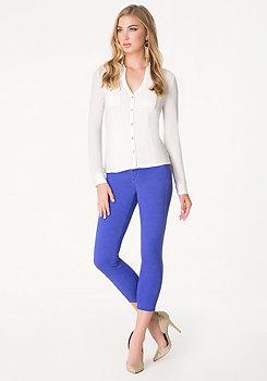bebe Cold Dye Crop Jeans