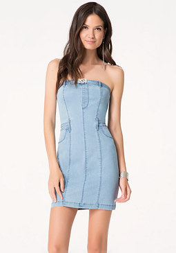 bebe Denim Tube Dress