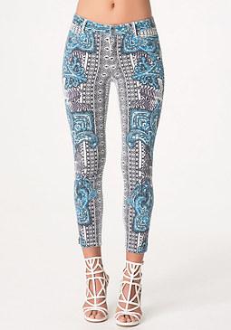 bebe Print Heartbreaker Jeans
