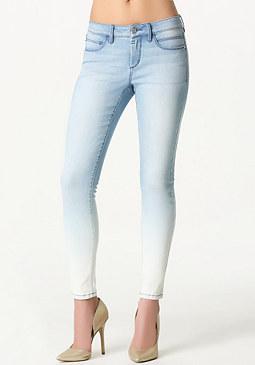 bebe Dip Dye Skinny Jeans
