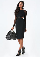 bebe Melanie Cutout Mesh Dress