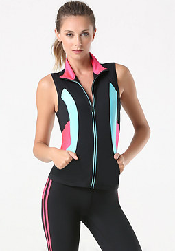 bebe Colorblock Workout Vest