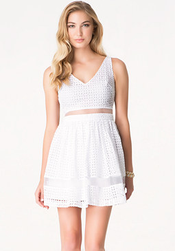 bebe Alyssa Eyelet Dress