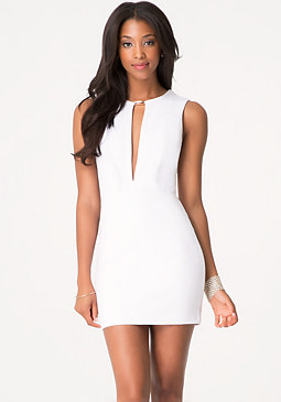 bebe Deep V-Neck Club Dress