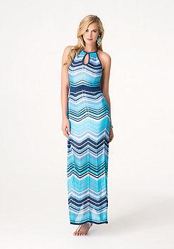 bebe Sparkle Chevron Maxi Dress