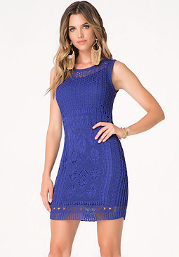 bebe Mix Stitch Sweater Dress