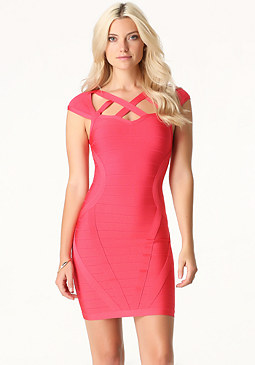 bebe Stella Bandage Dress