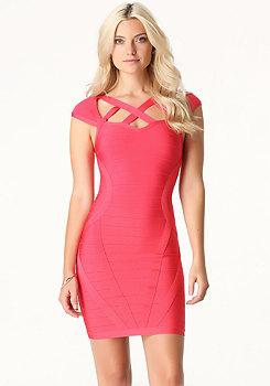 bebe Stella Bandage Dress