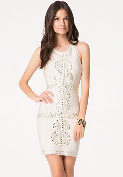 bebe Embellished Bandage Dress