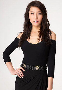bebe Multi-Rope Stretch Belt