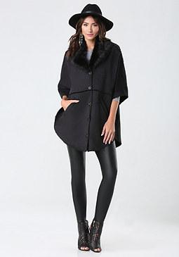 bebe Kerry Bonded Faux Fur Coat