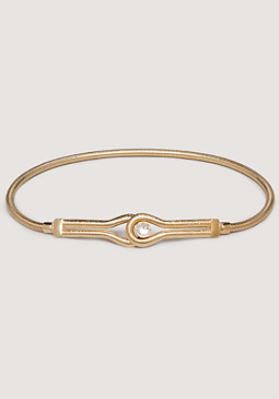 Jewel Hook Snake Chain Belt at bebe