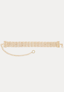 bebe Golden Nugget Chain Belt