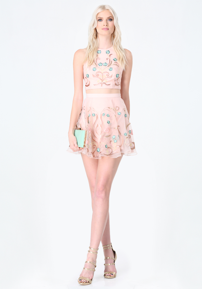 Pink Embroidered Dresses