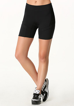 bebe Laser Cut Pocket Shorts
