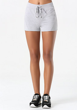 bebe Terry Lace Up Lounge Shorts
