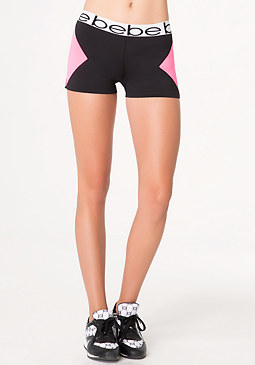 bebe Colorblock Workout Shorts