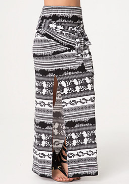 bebe Slit Gypsy Skirt
