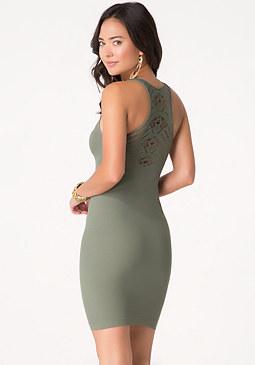bebe Lace Back Tank Dress