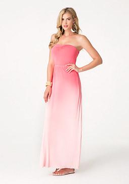 bebe Dip Dye Twist Back Dress