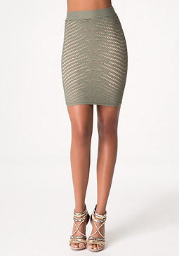 bebe Diamond Lace Skirt