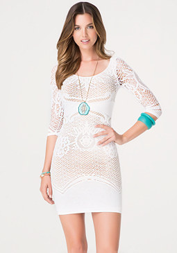 bebe Lace Bodycon Dress