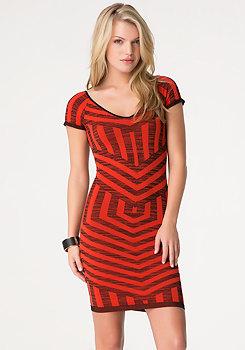bebe Mix Stripe Jacquard Dress