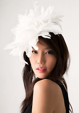 bebe Feather Derby Fascinator