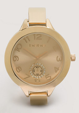 bebe Metal Plate Band Watch
