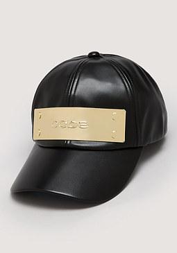 bebe Logo Plate Baseball Cap