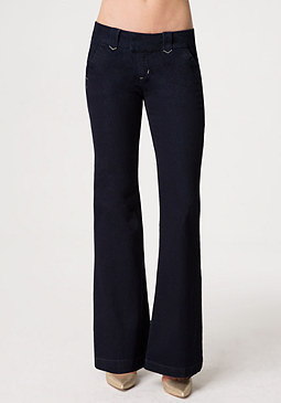 bebe Flared Denim Trousers