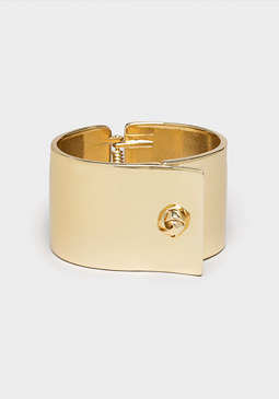 bebe Sleek Metal Hinge Bracelet