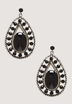 bebe Oversized Teardrop Earrings