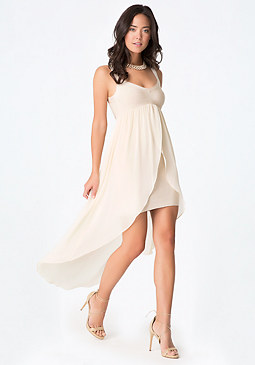 bebe Flowy Skirt Bandage Dress